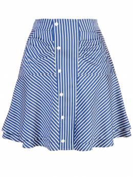 10 Crosby Derek Lam расклешенная юбка в полоску со сборкой TP92402NG