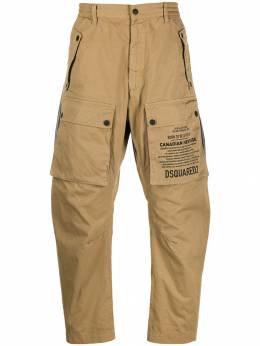 Dsquared2 брюки с принтом S74KB0295S52021