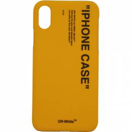 Off-White Yellow Quote iPhone X Case 192607F03202301GB