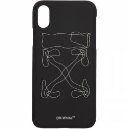 Off-White Black Abstract Arrows iPhone X Case 192607F03201901GB