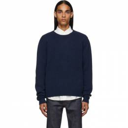 A.P.C. Navy Pullover Sweater WVAWI-H23883