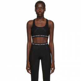 Marcelo Burlon County Of Milan Black Logo Sports Bra CWAD028E19A651121001