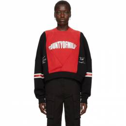 Marcelo Burlon County Of Milan Black and Red Logo Colorblock Sweatshirt CWBA045E195061111001