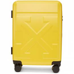 Off-White Yellow Arrows Suitcase OMNG005R20F610236060