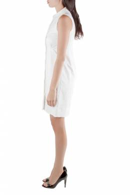 Jil Sander White Sleeveless Button Front Dress S 211690