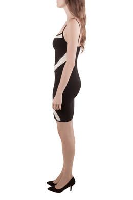 Herve Leger Monochrome Patterned Knit Sleeveless Bandage Dress S 211386