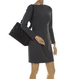 Salvatore Ferragamo Black Canvas and Leather Shoulder Bag 210373