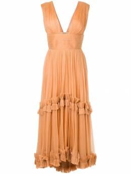 Maria Lucia Hohan плиссированное платье с оборками POLYNESIA
