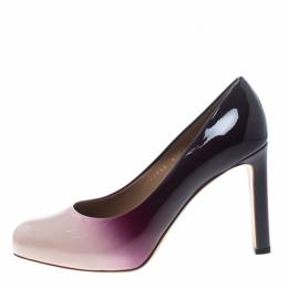 Salvatore Ferragamo Two Tone Patent Leather Gradient Leo Pumps Size 40 153566