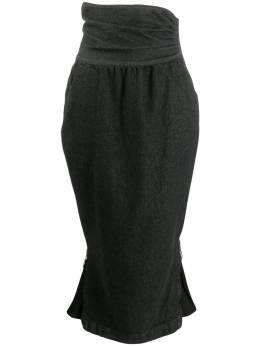 Moschino Pre-Owned юбка 1990-х годов с завышенной талией MOSC280F