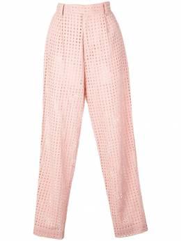 Fleur Du Mal зауженные брюки с люверсами PA00820483