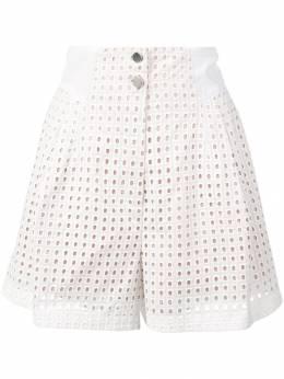 Fleur Du Mal шорты с завышенной талией и люверсами SH00430496