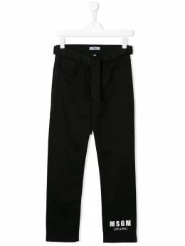 MSGM Kids джинсы с логотипом 020685