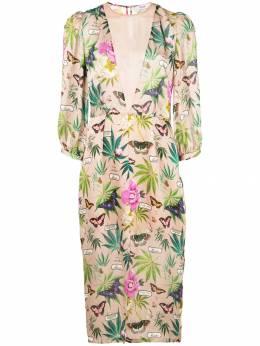 Fleur Du Mal платье миди с принтом DR02520488