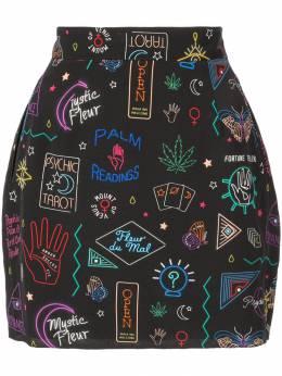 Fleur Du Mal юбка мини с принтом SK00280490