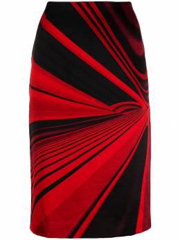 Versace Pre-Owned юбка 1990-х годов с абстрактным принтом VERSA450B