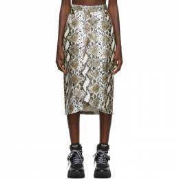 Pushbutton Beige Cone H-Line Skirt PB1930404W