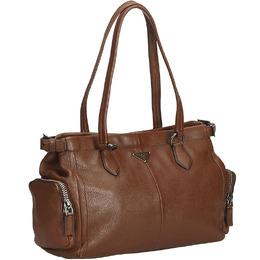 Prada Brown Leather Tote Bag 204078