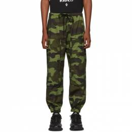Marcelo Burlon County Of Milan Green Camo Cross Pocket Lounge Pants CMCA140F19C090758801