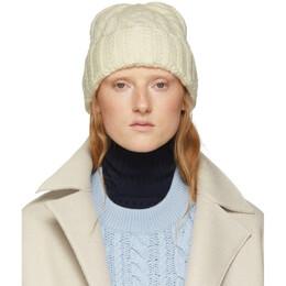 Ami Alexandre Mattiussi Off-White Wool Knit Beanie H19K654.007
