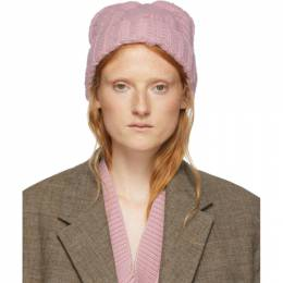 Ami Alexandre Mattiussi Pink Wool Knit Beanie H19K654.007