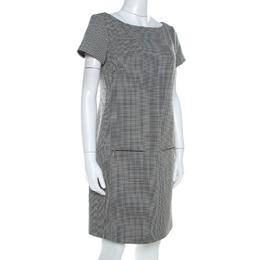 Ralph Lauren Monochrome Houndstooth Ailya Dress M 211719