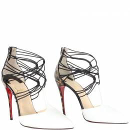 Christian Louboutin Multicolor Colorblock Patent Leather Strappy Sandals Size 37 187450