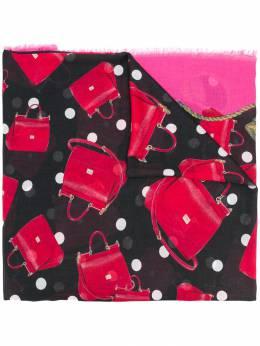Dolce&Gabbana шарф с принтом сумок FS184AGDK63