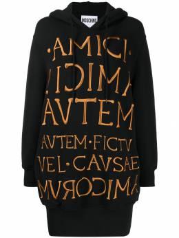 Moschino платье-толстовка с вышитым логотипом A04285525