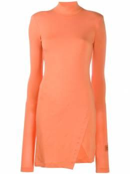 Heron Preston платье из джерси с высоким воротником HWDB014E198270141900