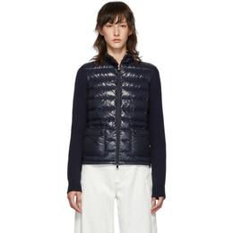 Moncler Navy Down Knit Jacket E20939457200A9107