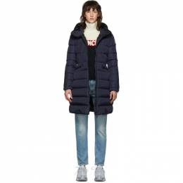 Moncler Navy Down Betulong Hooded Coat E20934936505C0063
