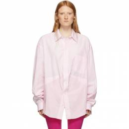 Balenciaga Pink and White Swing Shirt 583895-TEM17