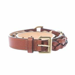 Mulberry Brown Leather Braided Belt 85 CM 211234