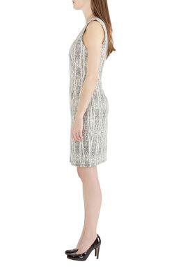 L'Agence x Intermix Monochrome Abstract Eva Print Sleeveless Sheath Dress M 212444