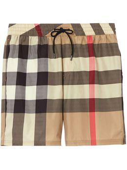 Burberry клетчатые плавки-шорты с кулиской 8017294