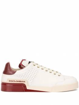 Dolce&Gabbana кроссовки с контрастными вставками CS1709AA780