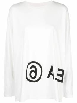 Mm6 Maison Margiela футболка с длинными рукавами и логотипом S52GC0120S21058