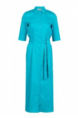 Голубое платье до середины икры Twin-Set 1506143424
