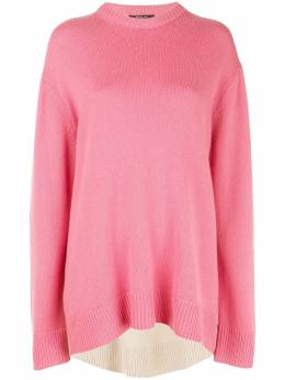 Derek Lam кашемировый свитер оверсайз с контрастной вставкой DP91901BC