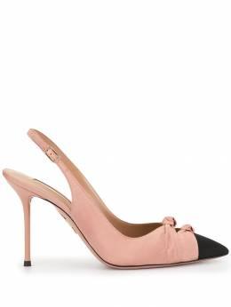 Aquazzura туфли с контрастным носком MODHIGL0GRO