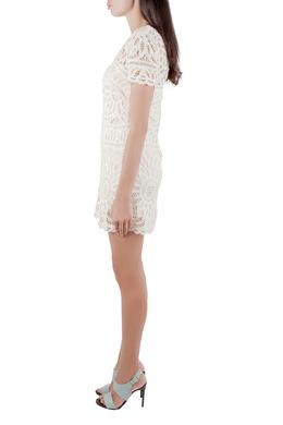 Sea Cream Battenburg Lace Shift Dress XS 212527