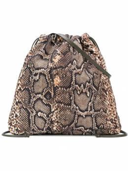 Victoria Beckham сумка-тоут с эффектом змеиной кожи VBA210PAW19
