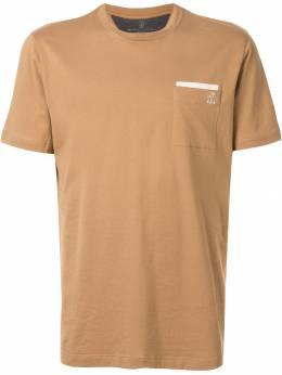 Brunello Cucinelli футболка с накладным карманом M0T611377GCJ949