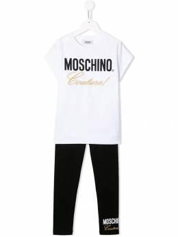 Moschino Kids костюм-двойка с логотипом HDK010LBA00
