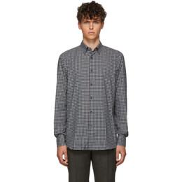 Ermenegildo Zegna Grey Check Dress Shirt UTX50 SRH1
