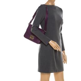 Furla Purple Leather Metropolis Shoulder Bag
