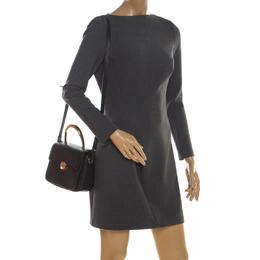 Aigner Black Leather Genoveva Top Handle Bag 211127