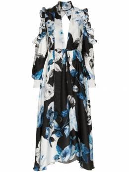 Off-White платье миди с цветочным принтом OWDB096F189510541099