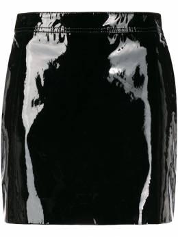 Saint Laurent лакированная мини-юбка 590922YC2TG